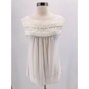 BCBGeneration Ivory Pleat Detail Blouse